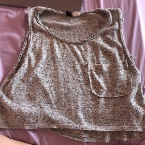 Urban outfitters gray crop top